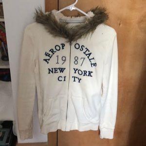 Aeropostale sweater - cream color